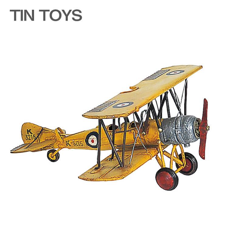 古き良き思い出を呼び起こす 在庫少要確認 高品質 ブリキのおもちゃ biplane 置物 インスタ映え 飛行機 インテリア小物 定番スタイル アンティーク レトロ 送料無料 オブジェ