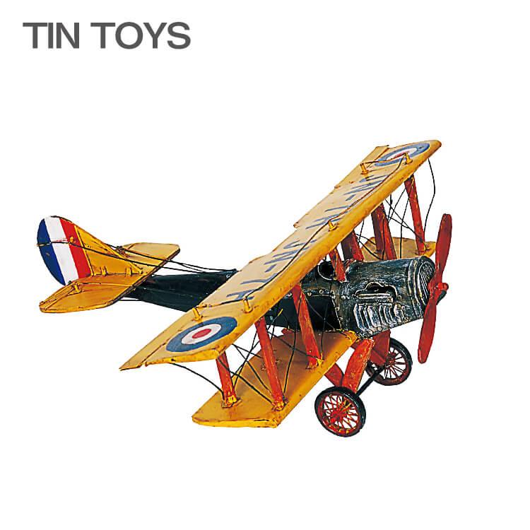 古き良き思い出を呼び起こす ブリキのおもちゃ 初回限定 biplane 置物 インスタ映え オブジェ 国内送料無料 レトロ 飛行機 アンティーク 送料無料 インテリア小物