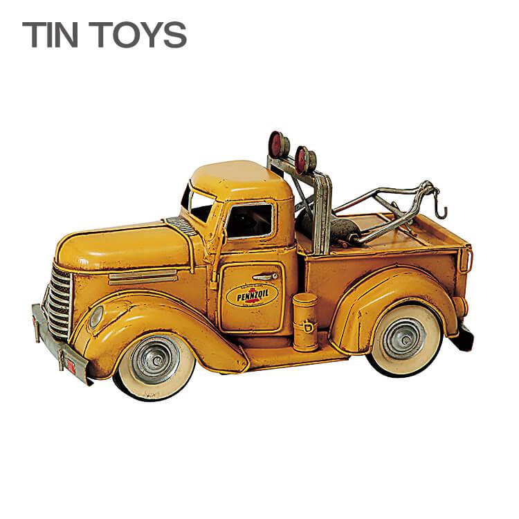店内商品ポイント10倍 ブリキのおもちゃ tow truck 置物 インスタ映え オブジェ インテリア小物 レトロ アンティーク 車 【送料無料】