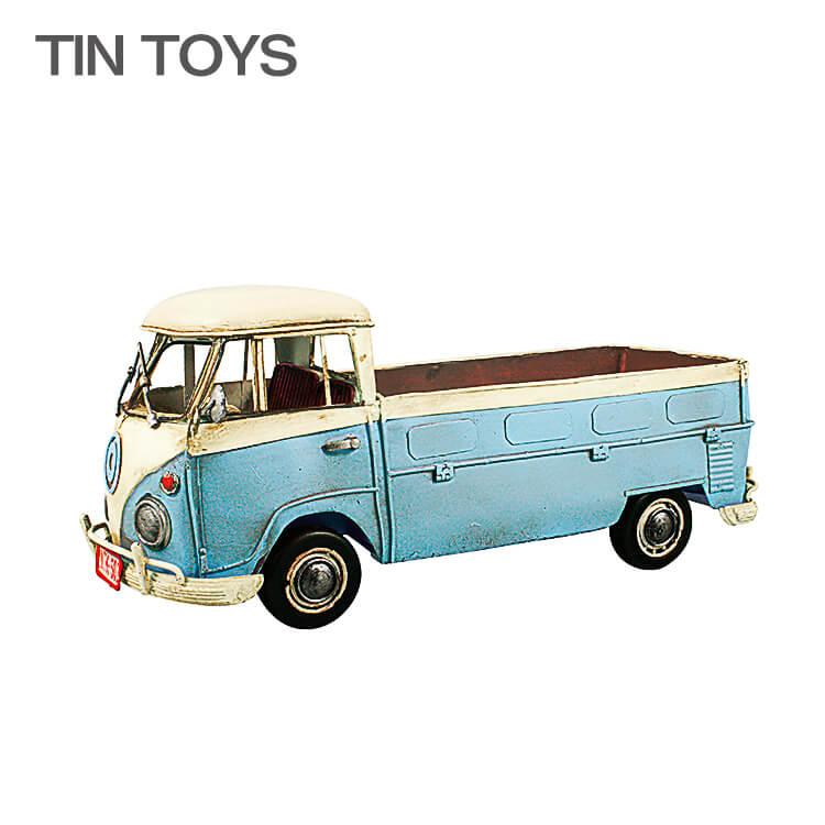 店内商品ポイント10倍 ブリキのおもちゃ van truck 置物 インスタ映え オブジェ インテリア小物 レトロ アンティーク 車 【送料無料】
