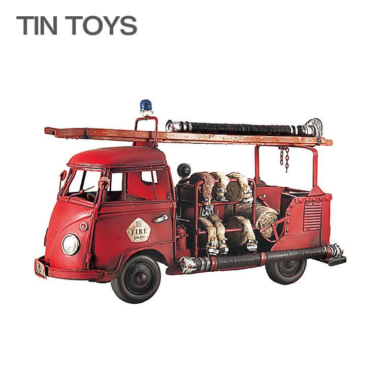 10日ポイント8倍 ブリキのおもちゃ fireengine 置物 インスタ映え オブジェ インテリア小物 レトロ アンティーク 車