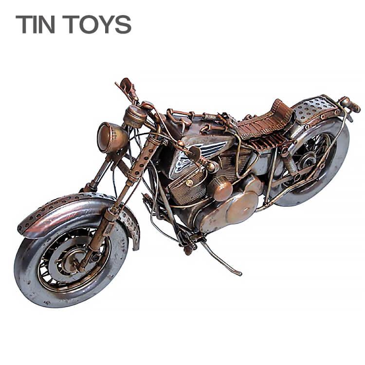店内商品ポイント10倍 ブリキのおもちゃ バイク bike motorcycle 置物 オブジェ インテリア小物 レトロ アンティーク インスタ映え 27618【送料無料】