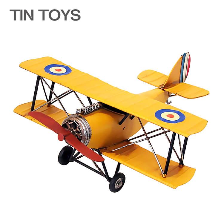 古き良き思い出を呼び起こす ブリキのおもちゃ 飛行機 airplane 驚きの値段で 置物 オブジェ インテリア小物 送料無料 アンティーク インスタ映え 宅配便送料無料 43101 レトロ