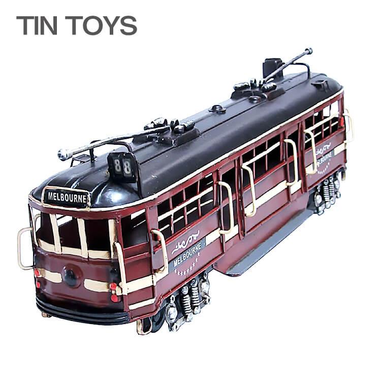 店内ポイント8倍 在庫少要確認 ブリキのおもちゃ 汽車 列車トレイン locomotive tram 置物 オブジェ インテリア小物 レトロ アンティーク インスタ映え 27620【送料無料】