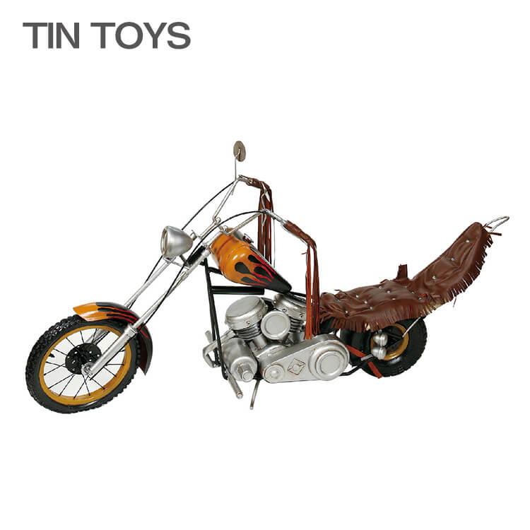 10日ポイント8倍 在庫少 要確認 ブリキのおもちゃ 大きいサイズ【150cm幅】 big motorcycle fire ※在庫少要確認 バイク オートバイ 玩具 置物 インスタ映え ディスプレイ用 オブジェ インテリア小物 レトロ アンティーク 車