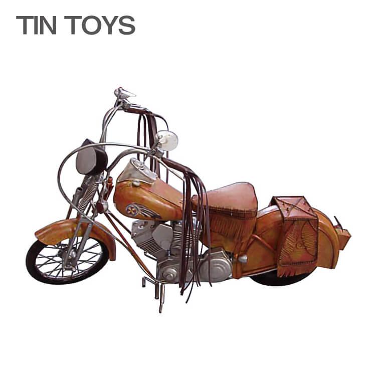 10日ポイント8倍 在庫少 要確認 ブリキのおもちゃ 大きいサイズ【75cm幅】 big motorcycle western バイク オートバイ 玩具 置物 インスタ映え ディスプレイ用 オブジェ インテリア小物 レトロ アンティーク 車