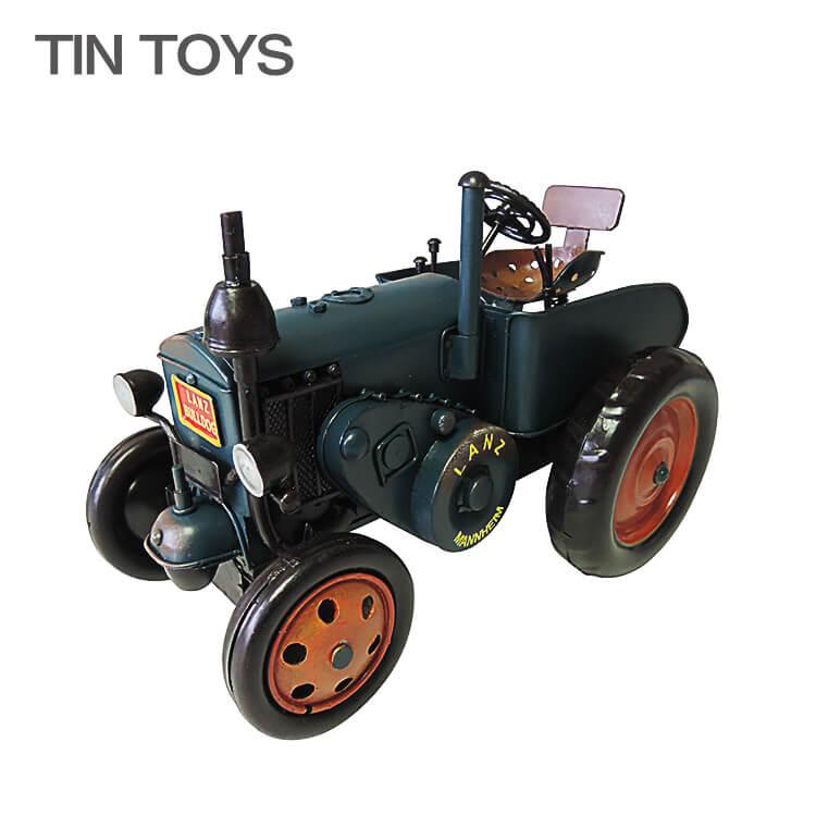 店内商品ポイント10倍 ブリキのおもちゃ tractor トラクター ディスプレイ 玩具 置物 インスタ映え オブジェ インテリア小物 レトロ アンティーク 車 【送料無料】