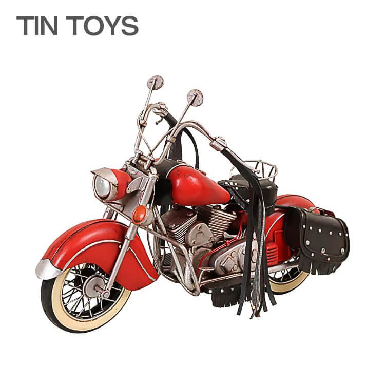25日ポイント8倍 【送料無料】 ブリキのおもちゃ オートバイ 自動二輪車 motorcycle バイク 玩具 置物 インスタ映え オブジェ インテリア小物 レトロ アンティーク 車