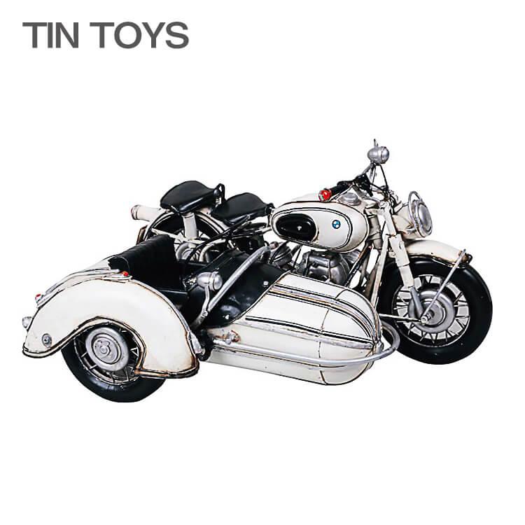 10日ポイント8倍 在庫少 要確認 ブリキのおもちゃ side car サイドカー オートバイ 玩具 置物 インスタ映え オブジェ インテリア小物 レトロ アンティーク 車