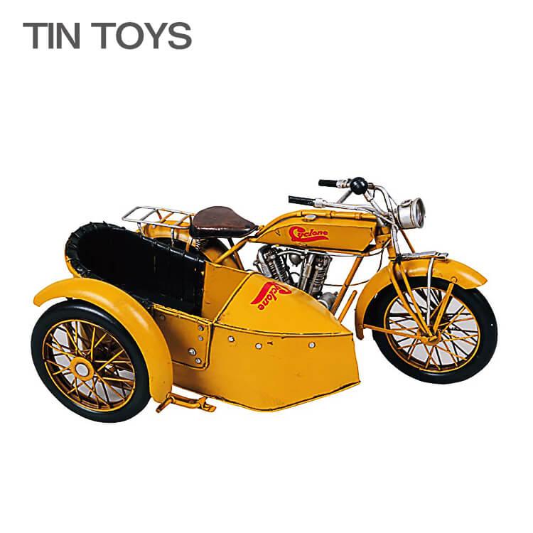 ワンダフルポイント5倍 ブリキのおもちゃ side car サイドカー オートバイ 玩具 置物 インスタ映え オブジェ インテリア小物 レトロ アンティーク 車