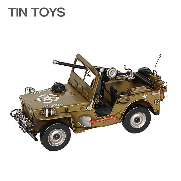 5日ポイント8倍 【送料無料】 在庫少 要確認 ブリキのおもちゃ jeep 軍用車両 軍用トラック ジープ 戦車 玩具 置物 インスタ映え オブジェ インテリア小物 レトロ アンティーク 車 乗り物