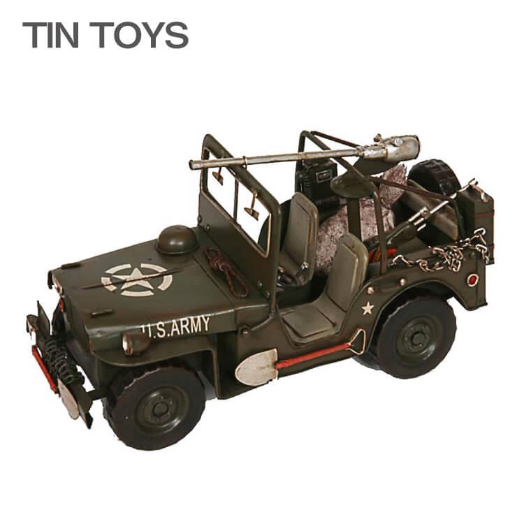 10日ポイント8倍 ブリキのおもちゃ jeep 軍用車両 軍用トラック ジープ 戦車 玩具 置物 インスタ映え オブジェ インテリア小物 レトロ アンティーク 車 乗り物
