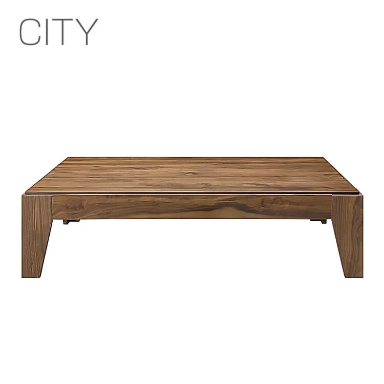 【送料無料】岩倉榮利デザイン CITY COFFEE TABLE/135コーヒーテーブル ウォールナットC-52(座卓 リビングテーブル センターテーブル 木製 長方形 シギヤマ家具 デザイナーズ家具 白 シティ) 木曜ポイント5倍