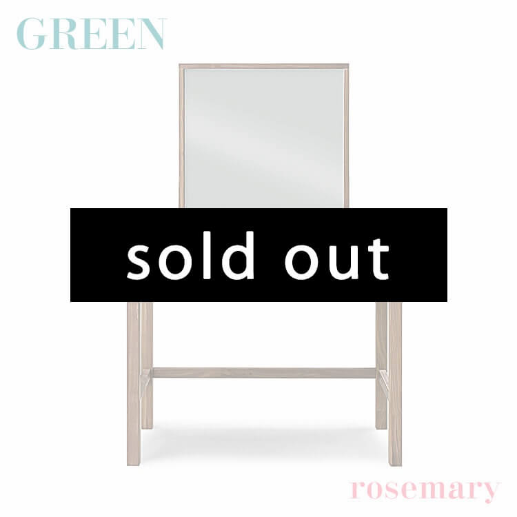 完売 【送料無料】GREEN rosemary デスク A+ミラー ウォールナット R-029(鏡台 化粧台 ドレッサー 木製 セラウッド塗装 グリーン ローズマリー) ポイント5倍