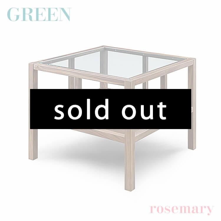 【送料無料】GREEN rosemary サイドテーブル ウォールナット R-035(リビング ガラス 木製 セラウッド塗装 グリーン ローズマリー) ポイント5倍