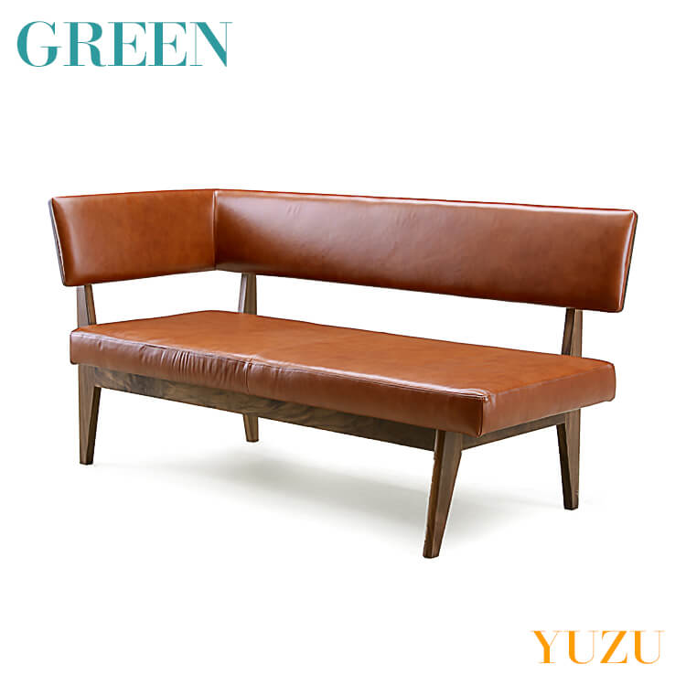 【送料無料】GREEN YUZU LDチェア B ウォールナット Y-017R(本革 PVC リビング ダイニング イス 椅子 セラウッド塗装 グリーン ユズ)※革専用お手入れキットプレゼント付 ポイント5倍