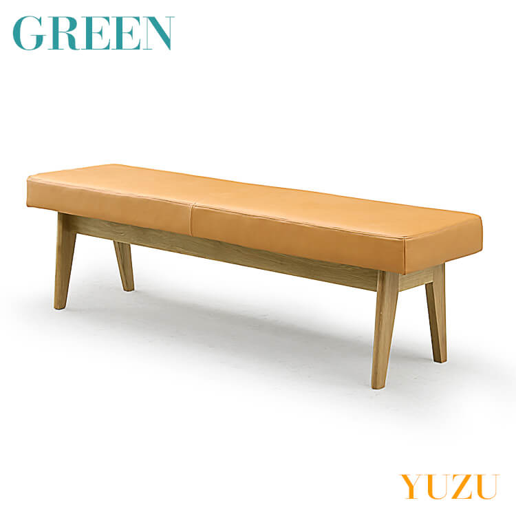 【送料無料】GREEN YUZU LDベンチ オーク Y-020(リビング ダイニング チェア イス 椅子 セラウッド塗装 グリーン ユズ) ポイント5倍