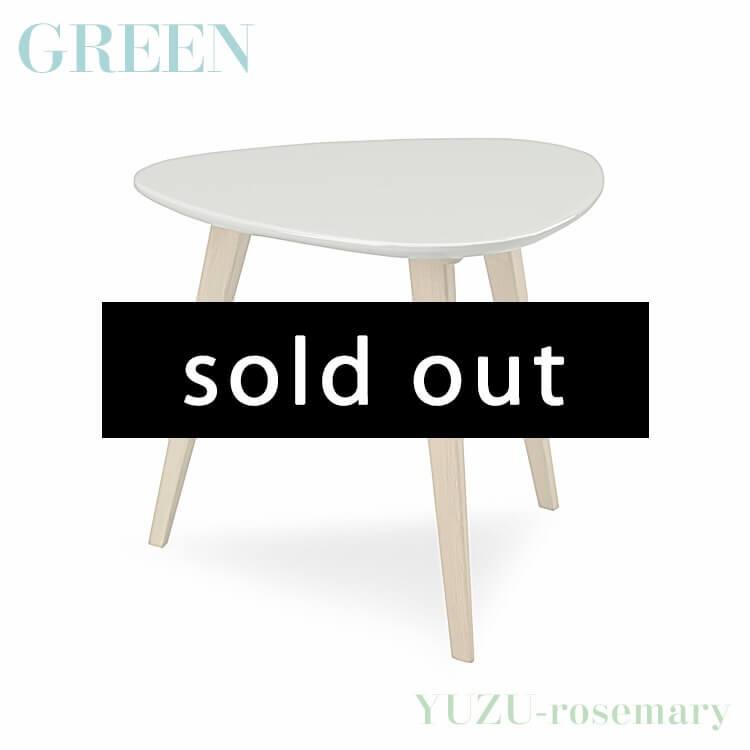 【送料無料】GREEN YUZU/rosemary コーヒーテーブル 60 オーク YR-020(リビング サイド セラウッド塗装 グリーン ユズ ローズマリー) ポイント5倍