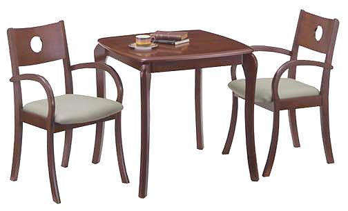 在庫少 【送料無料】テーブル3点セット/72幅テーブル&肘付チェア2脚(カフェ 木製 ダークブラウン ナチュラル グリーン) ポイント5倍