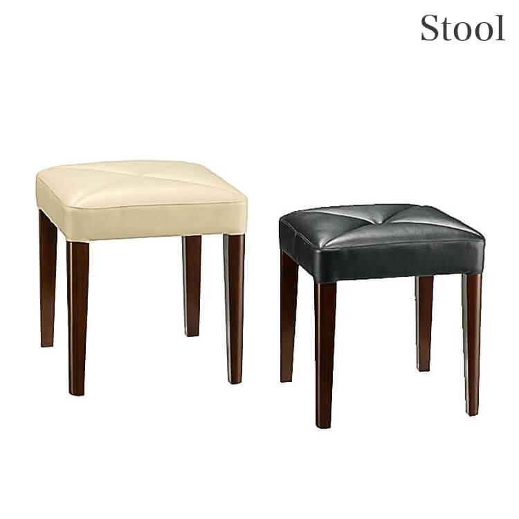 10日ポイント8倍 【送料無料】スツール39幅 椅子 イス 木製 PVC アイボリー ブラック