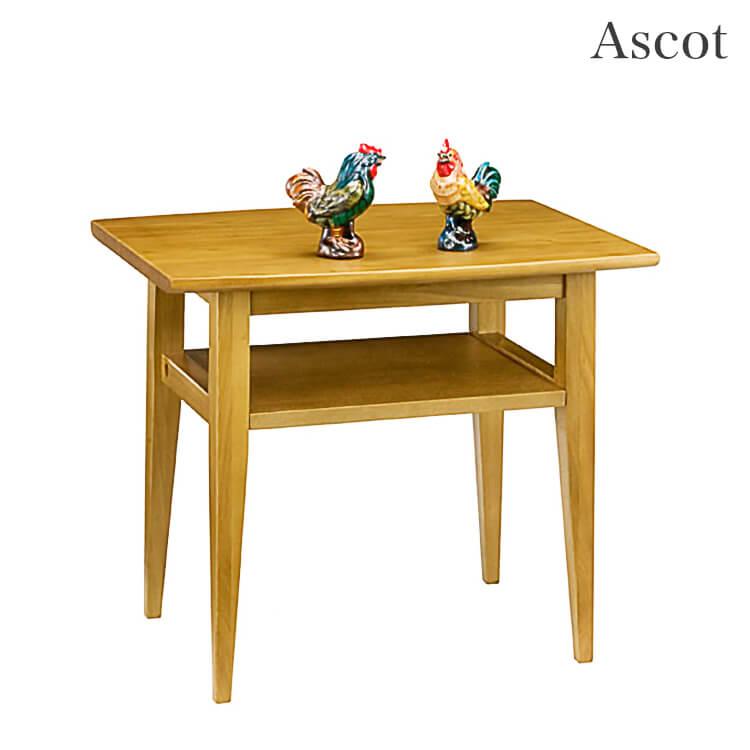 10日ポイント8倍 【送料無料】リビングテーブル60幅 / 棚付 センター 木製 ライトブラウン ダークブラウン
