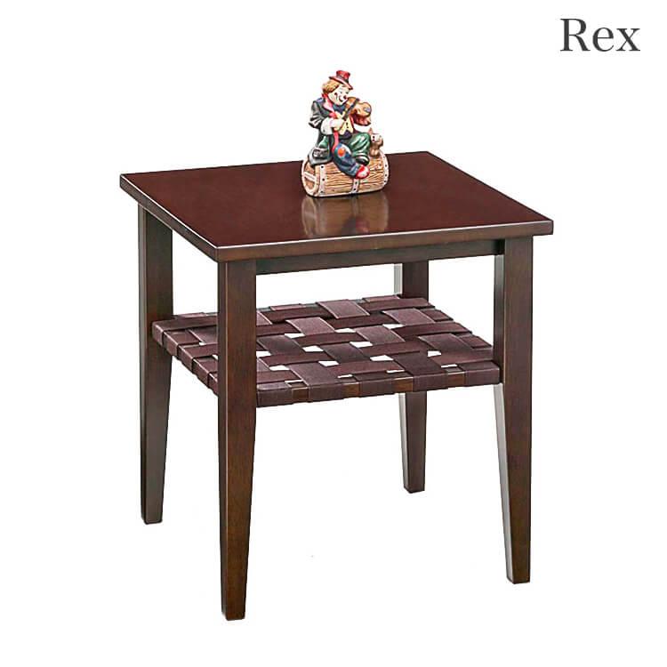 【送料無料】リビングテーブル45幅/棚付(サイド 木製 ライトブラウン ダークブラウン) ポイント5倍