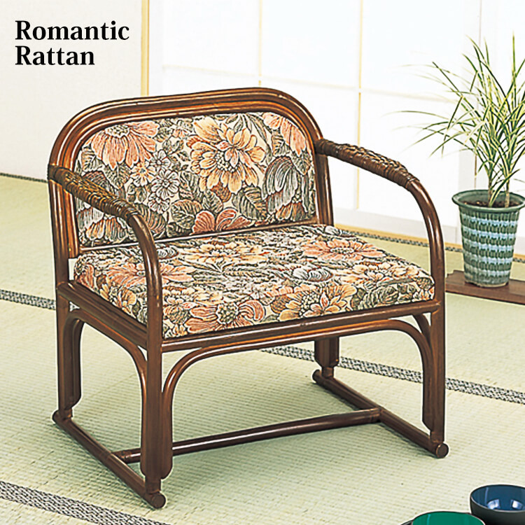 ワンダフルポイント5倍 籐座椅子 1人掛 籐座椅子 肘付 和室 ラタン アームチェア 畳 和室 ラタン, BIN-1 LIMITED:b93a8dc4 --- data.gd.no