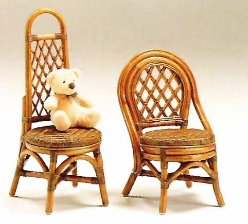 Cane kids Chair 1 p (Chair, mini, child, in-service, rattan, natural materials)