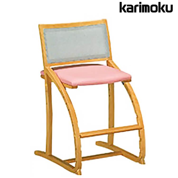 10日ポイント8倍 【送料無料】カリモク学習机用チェア XT2401 木製 ブナ 椅子 キャスター無