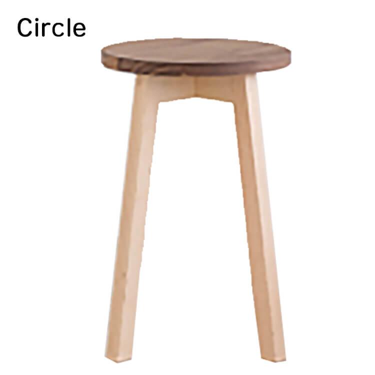 店内商品ポイント10倍 2020年度 Circle シリーズ スツール stool design by 土肥牧子 mishim 杉工場 日本製 円形 食卓椅子 イス いす ナチュラル シンプル 木製 サークル ウォールナット テレワーク 【送料無料】