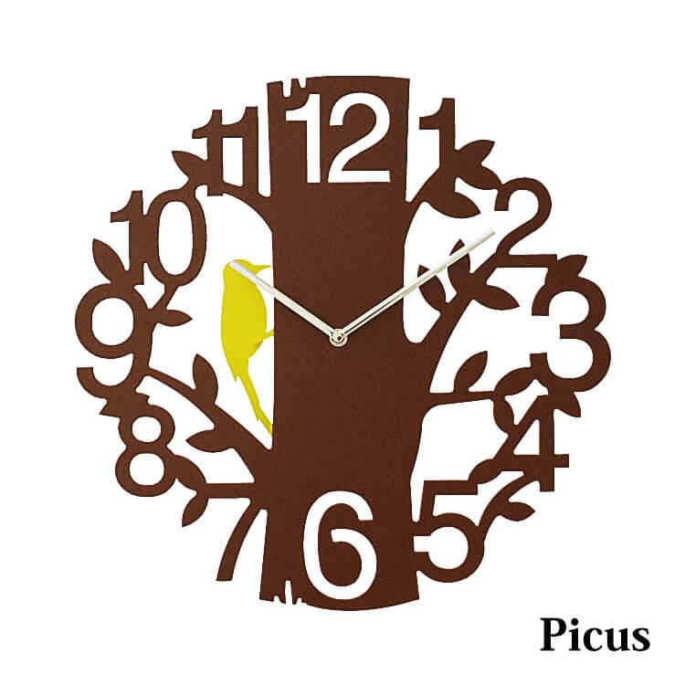 ウォールクロック(掛け時計 インテリア 鳥 振り子 プラスチック ホワイト ブラウン) 木曜ポイント5倍
