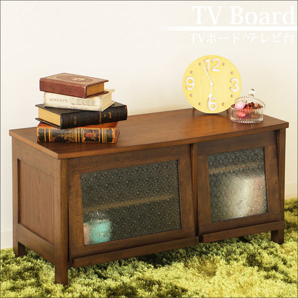 TVボード 幅86cm(AVボード テレビ台 リビングボード 収納 木製 オイルステイン仕上) 木曜ポイント5倍