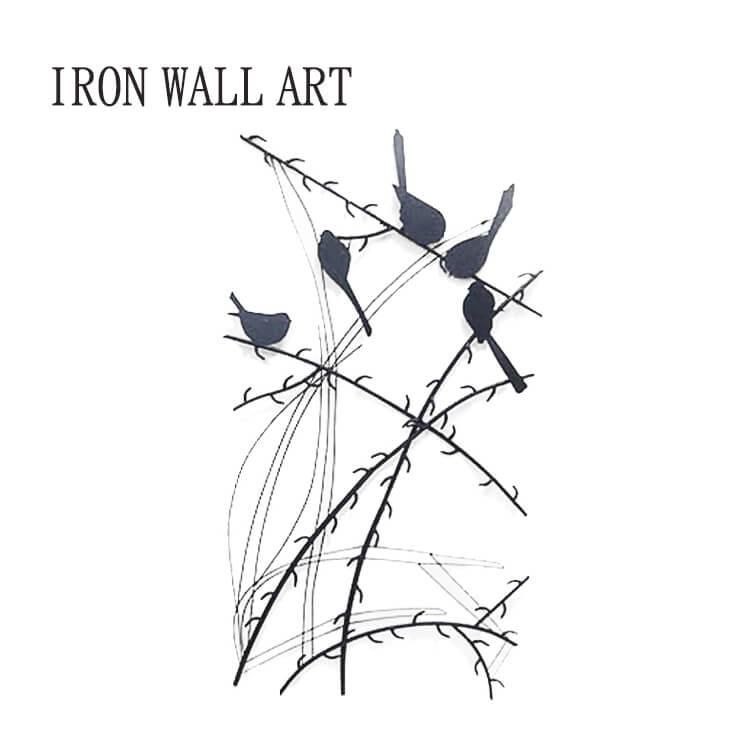 10日ポイント8倍 【送料無料】パネル ウォールアートパネル 壁飾り 飾り アイアン 鳥 モダン お洒落