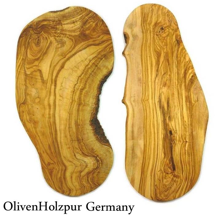 【木のまな板木製まな板オリーブウッドカッティングボード】オリフェン・ホルツプア OlivenHolzpur オリーブの木まな板(50x20x2cm) 変形ナチュラル #BN50【木製まな板ウッドブレッドボードチョッピングボードオリーブの木まな板】【送料無料】