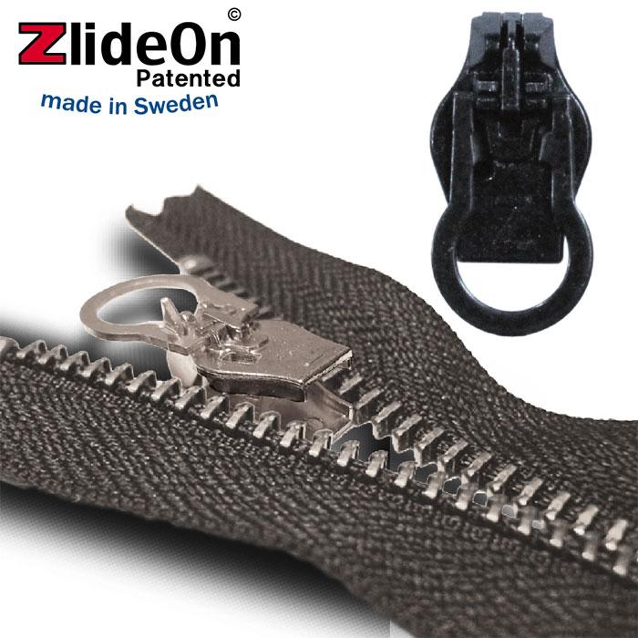 壊れたファスナーを簡単に修理する北欧スウェーデン生まれの便利ツールです ズライドオン 正規品 ZlideOn 8C-1 ブラック 通販 激安 丸プルタブ スライダー ファスナー チャックの簡単修理ツール 動画 ジッパー