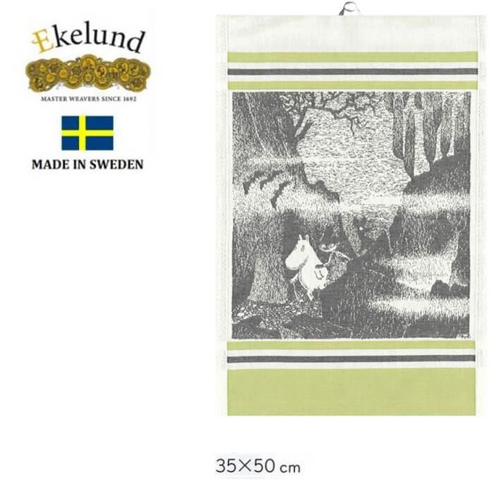 エーケルンドEkelundはスウェーデン王室 オンライン限定商品 期間限定今なら送料無料 日本皇室御用達の伝統ある高級クロスです エーケルンド Ekelund ムーミン Moomin BAT 2015 35×50cm スニフ スナフキン 原作 北欧 オーガニックコットン タペストリー キッチンタオル #55300