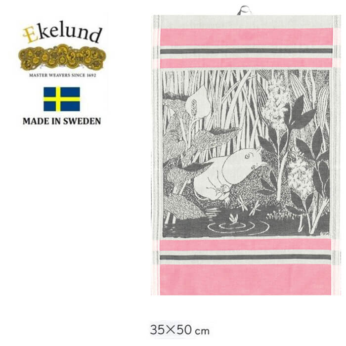 エーケルンドEkelundはスウェーデン王室 日本皇室御用達の伝統ある高級クロスです エーケルンド Ekelund 高級 ムーミン 激安特価品 Moomin DRAGONFLY 2015 北欧 原作ムーミン タペストリー #55317 オーガニックコットン キッチンタオル 35×50cm