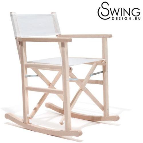【送料無料】【Swing Design スウィングデザイン】イタリア製 ロッキング ディレクターズチェアー ナチュラル [Chiripo]