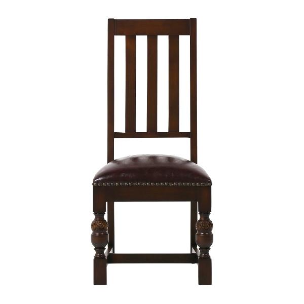 ヴィンセントシリーズ ダイニングチェア チェア 椅子 家具 ブラウン ブルボーズ レッグ ハイバック 1人掛け 9010-5P38 ソファ専門店 ロイヤルソファズ