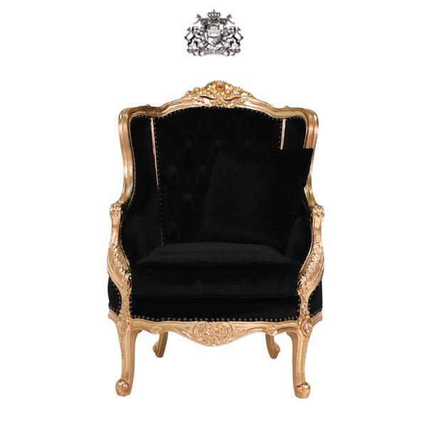 ロゼゴールドフレームシングルソファ  1人掛け 1人掛け 一人掛け 椅子 イス 肘掛け 猫足 猫脚 アンティーク調 ヴィンテージ ビンテージ レトロ フランス イタリア ヴィクトリアン ゴシック ブラック 黒色 ゴールド 金色 プリンセス 姫 布地 1008-1W-52F44B