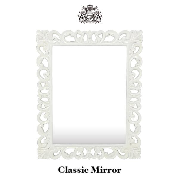 鏡 壁掛け 壁掛けミラー 壁面ミラー ウォールミラー カガミ 姿見 アンティーク調 アンティーク風 アンティーク ロココ ロココ調 シルバー 銀色 四角 角形 かっこいい かわいい おしゃれ 店舗用品 洗面所 洗面 トイレホワイト 白 MR1902