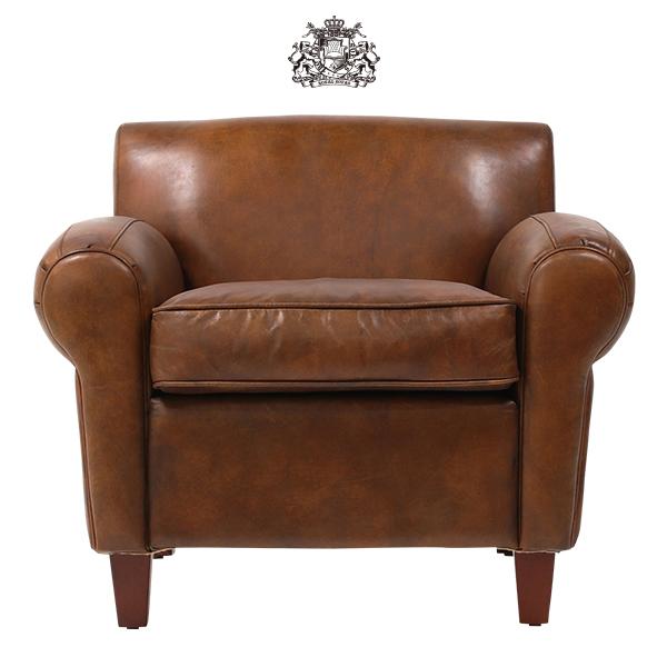 ソファ ソファー 一人掛け 1人掛け シングル 椅子 アームチェア アンティーク ヴィンテージ ビンテージ イギリス ミッドセンチュリー 北欧 リプロダクト デザイナーズ ジェネリック レザー 本革 本皮 ブラウン クラブソファ クラブチェア PS7219-1LB