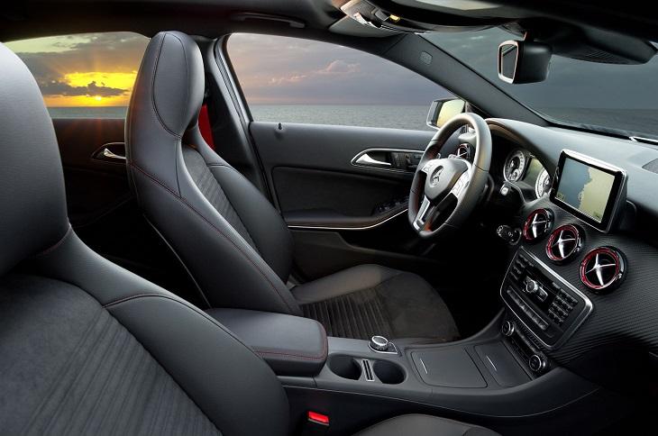 W176 Aクラス純正品 レッドストライプ エアコン吹出し口センター3個・左右2個Mercedes Benz メルセデス ベンツ