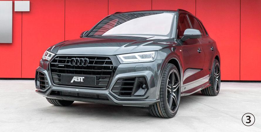 ABT アプト Audi アウディ Q5 SQ5 80A0 エアロパッケージ シルバートリム ※画像はブラックトリム仕様となります