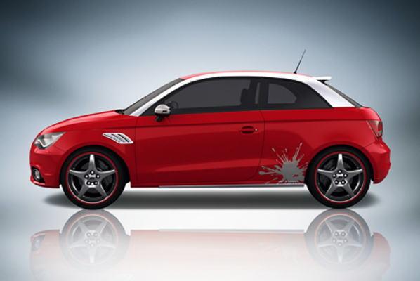 ABT アプト デコセット smudge・シルバーアルミブラッシュド Audi アウディ A1 8X