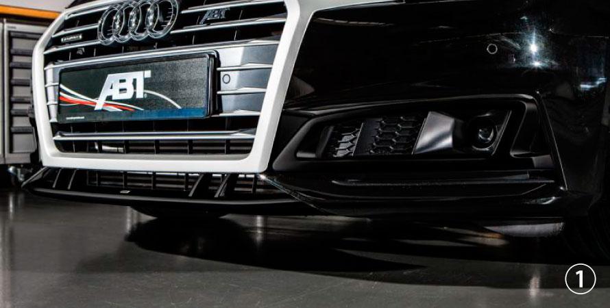 ABT アプト Audi アウディ A4 S-line S4 8W00 フロントスポイラーリップ
