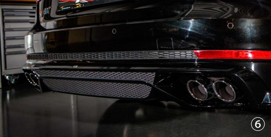 ABT アプト Audi アウディ A4 S4 8W 2015~ リアスカート インサートオプティックメッシュ ABTリアスカートセットに適合