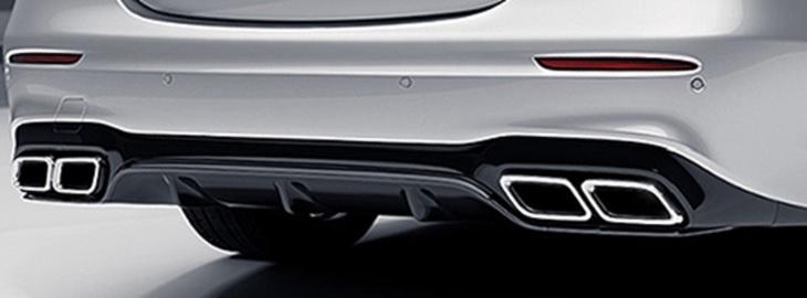 純正リアディフューザー&マフラーエンドセット 角型4本出し Eクラス W213 E63 AMG Mercedes Benz メルセデス ベンツ
