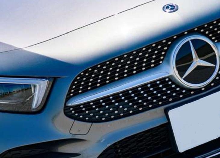 純正 ダイヤモンドルック フロントグリル マットシルバー カメラ無NEW Aクラス W177 Mercedes Benz メルセデス ベンツ