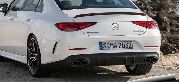 AMG リアディフューザー&マフラーエンドセット 純正品 ブラック 丸形4本出し ナイトPG CLSクラス C257 CLS53 AMG CLS220 CLS450 Mercedes Benz メルセデス ベンツ